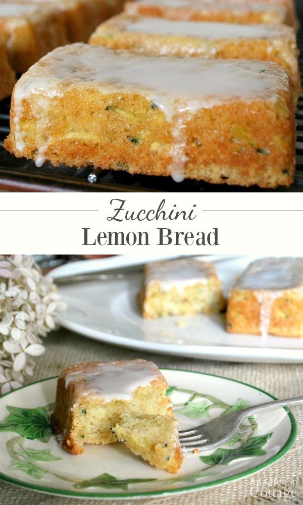 Zucchini lemon bread with light glaze-pin image