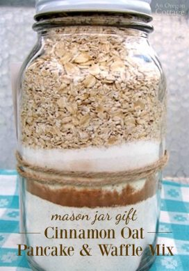 Mason Jar Gift-Cinnamon Oat Pancake and Waffle Mix