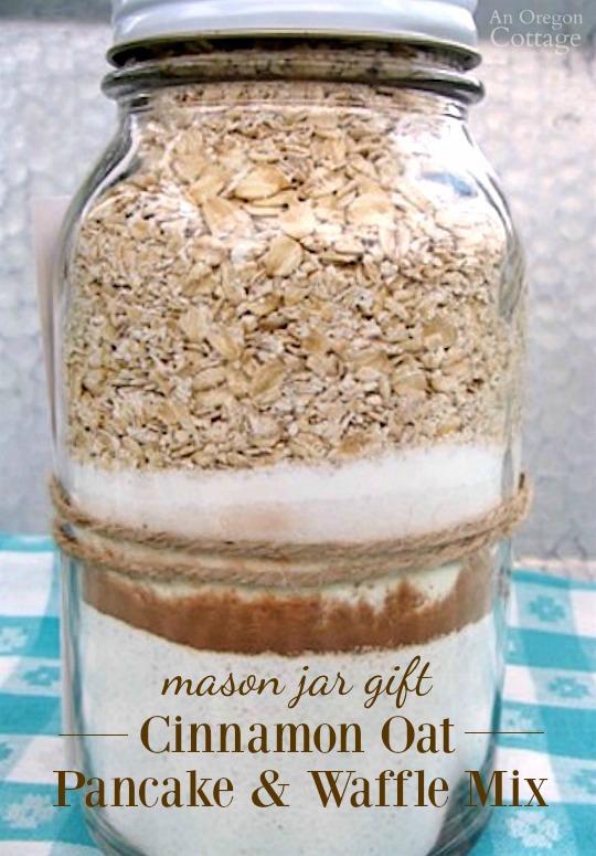 Mason Jar Gift-Cinnamon Oat Pancake and Waffle Mix