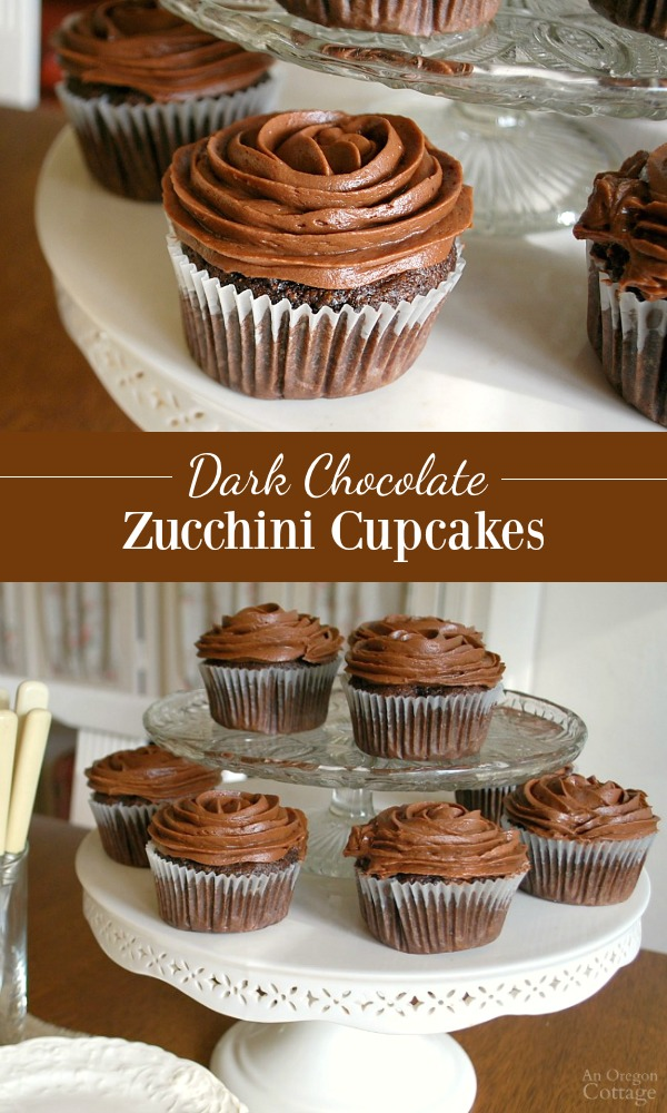 chocolate zucchini cupcakes with frosting