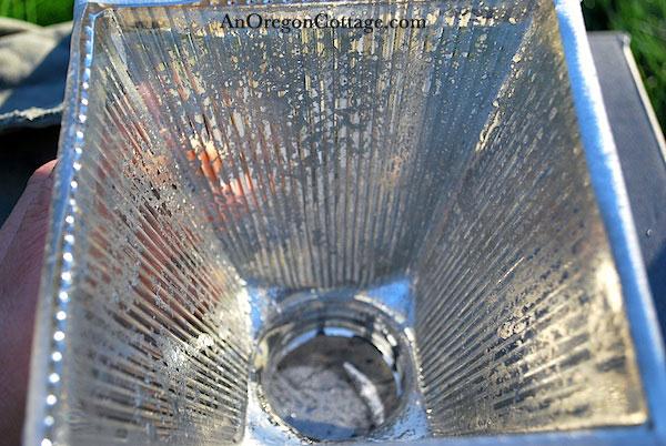 antique mercury glass finish detail