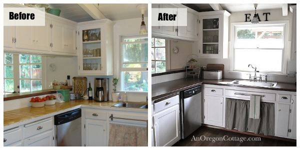 Kitchen Before After Left