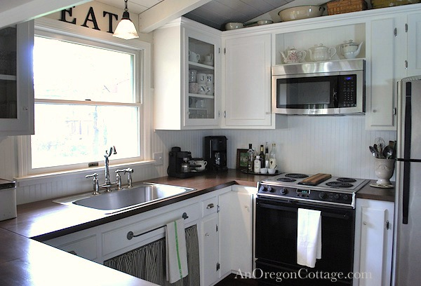 DIY Kitchen Remodel-farmhouse fresh
