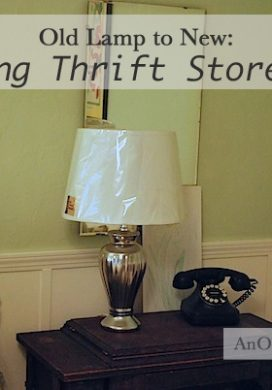 Painting Thrift Store Lamps