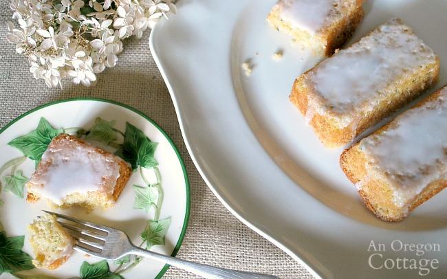 serving zucchini lemon bread