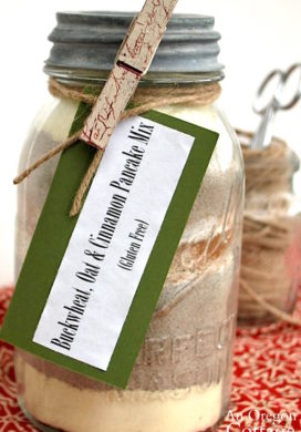 Buckwheat-Oat-Cinnamon Pancake Mix in a jar