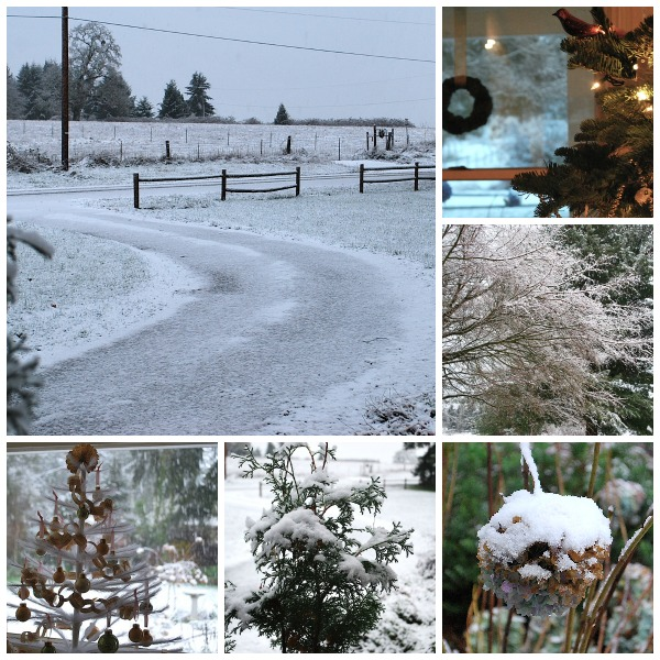 Christmas Snow Collage