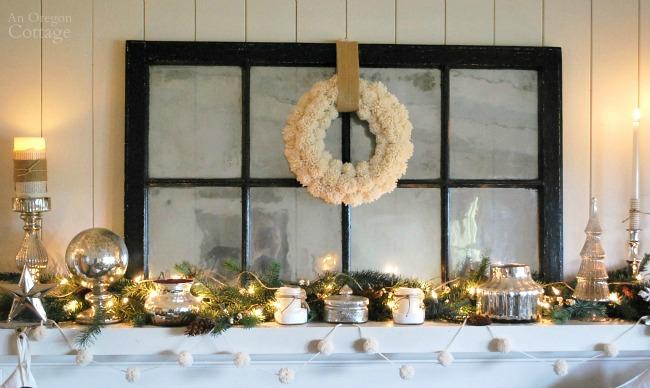 DIY Wool Pom Pom Wreath and garland