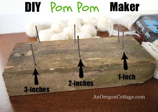 How To Make A Wool Pom Pom Wreath Amp Garland An