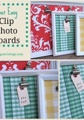 Quick Gifts: Clip Photo Boards {From Thrift Store Frames}