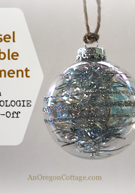 Make a simple Anthropologie knock-off Tinsel Bubble ornament in just minutes!