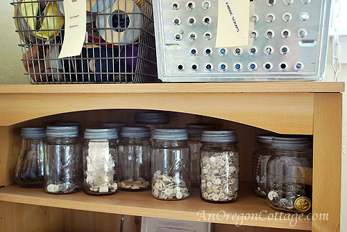 Vintage Canning Jar Organization