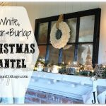 White, Silver, and Burlap Christmas Mantel