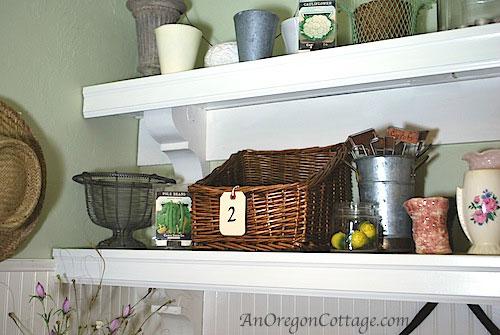 basket-on-mudroom-shelves