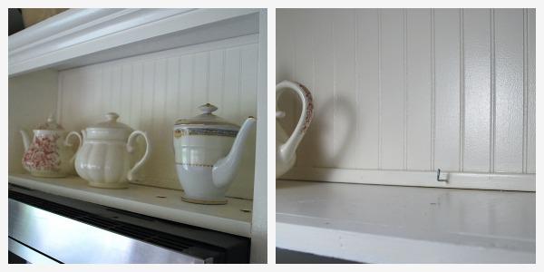 shelf above microwave