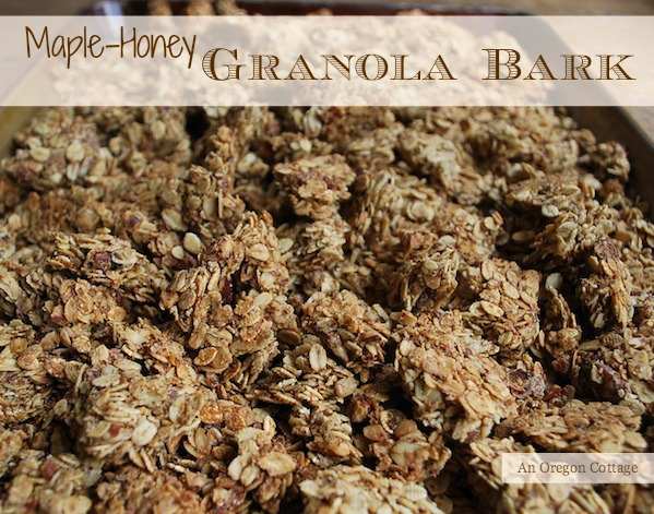 Amazing Maple-Honey Granola Bark - An Oregon Cottage