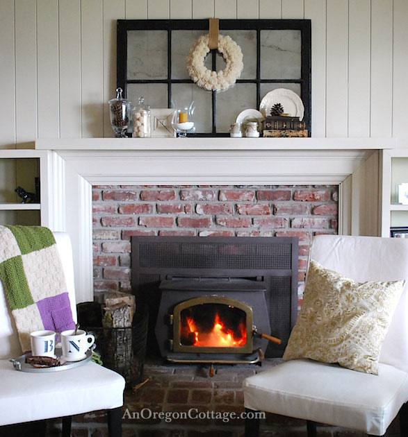 Calm & Quiet Winter Decor - An Oregon Cottage
