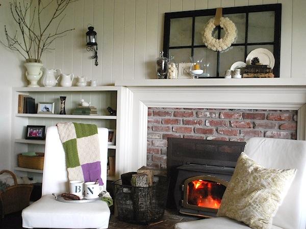 Quiet Winter Mantel-Shelves