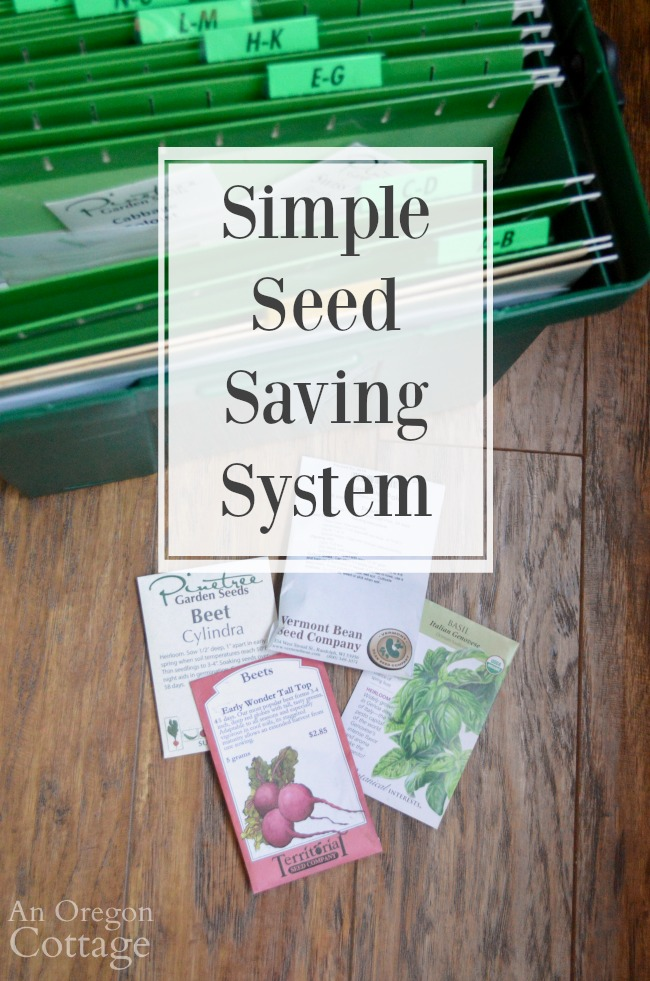Simple seed saving system
