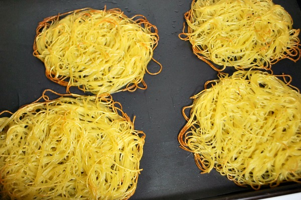 baked noodle pillows