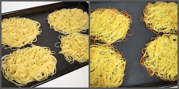 baking noodle pillows
