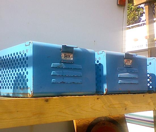 blue locker baskets