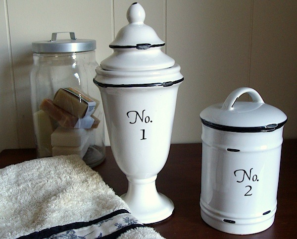 numbered apothecary jars