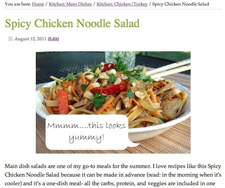 salad screenshot