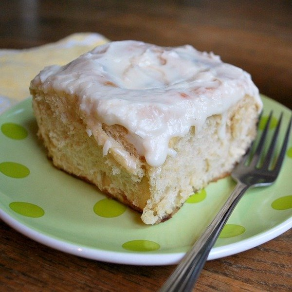Homemade Cinnamon rolls on plate