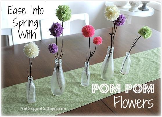 Ease Into Spring pom-pom flowers