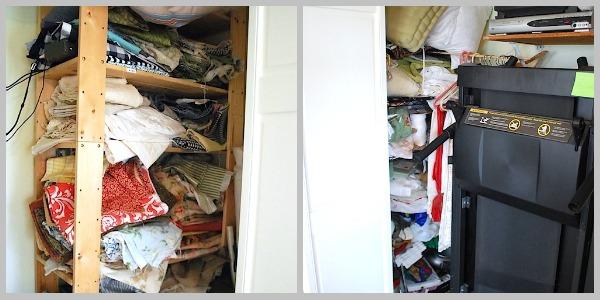 Fabric Shelves-before