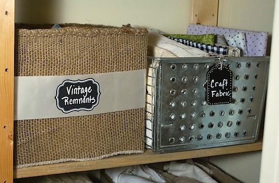burlap storage box and gym basket