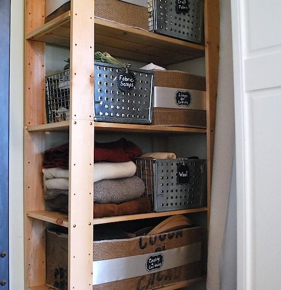 lower wood shelves