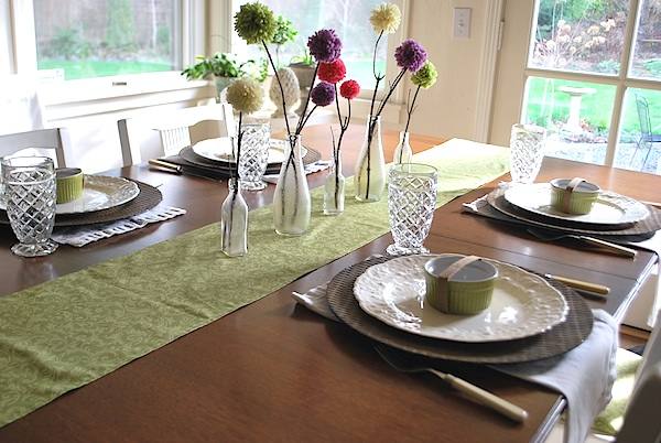 Spring table looking outside