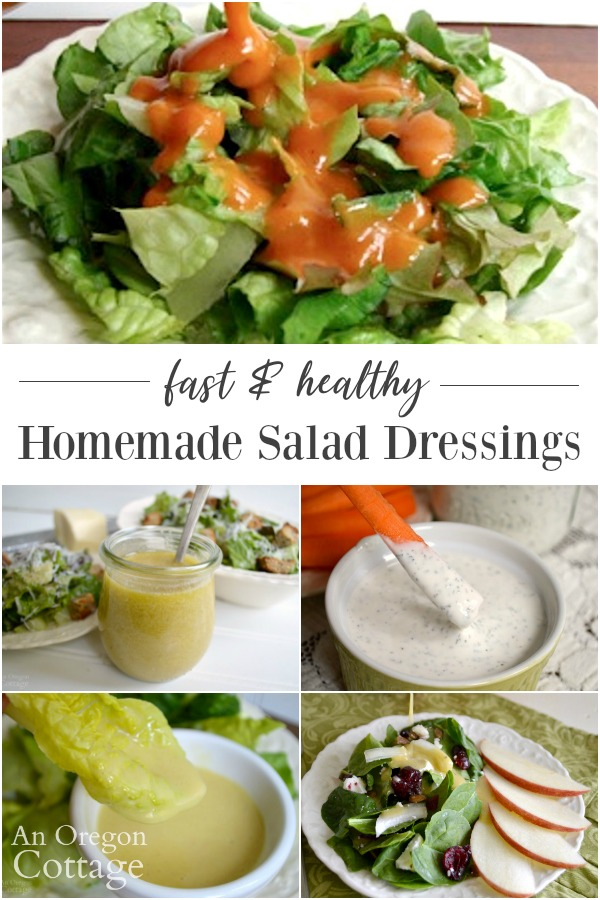 Homemade salad dressings collage of recipes