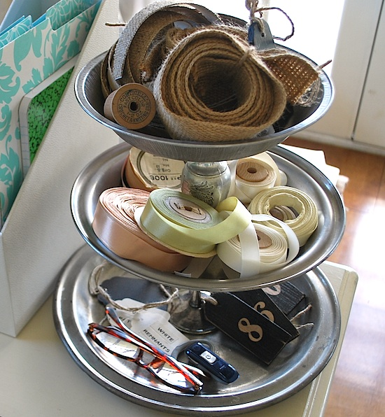 Pie Tin Organizer