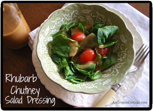 Rhubarb Chutney Dressing