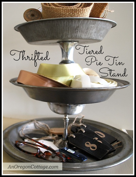 DIY Tiered Vintage Pie Tin Stand :: An Oregon Cottage