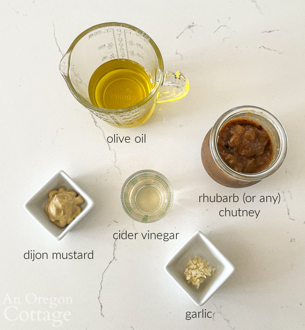 chutney salad dressing ingredients labeled