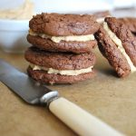 PB brownie sandwich cookies