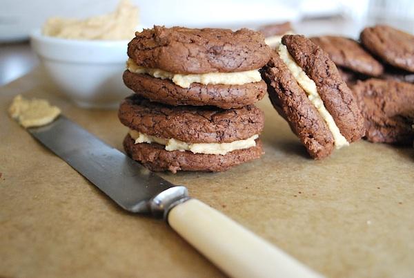 PB brownie sandwich cookies