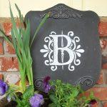 chalkboard monogram plaque :: An Oregon Cottage