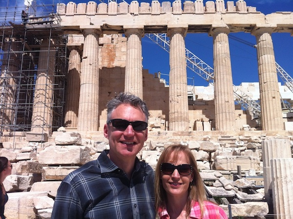 Greece-Brian and Jami at Acropolis
