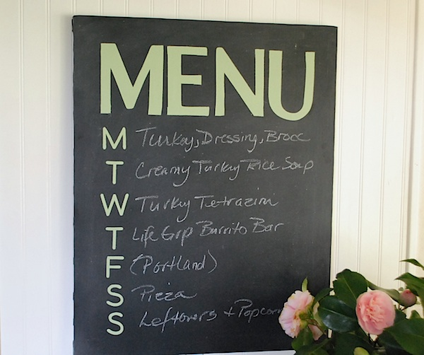 Canvas Chalkboard Menu
