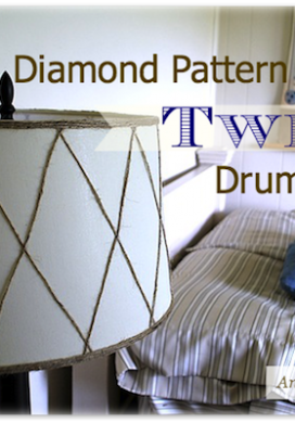 Diamond Pattern Twine Drum Shade {Wayfair DIY Challenge}