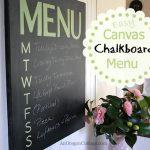 Easy Canvas Chalkboard Menu :: An Oregon Cottage