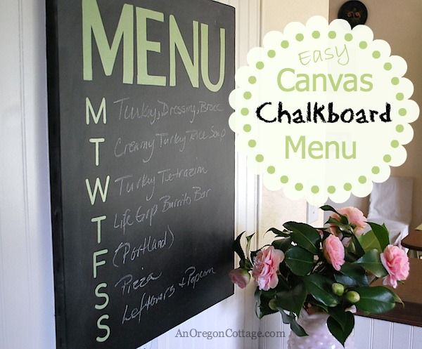 Easy Canvas Chalkboard Menu