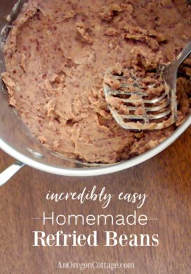 Incredibly Easy Refried Beans Recipe {To Eat Now or Freeze for Later}