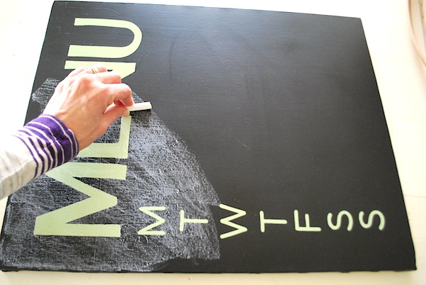 conditioning canvas chalkboard