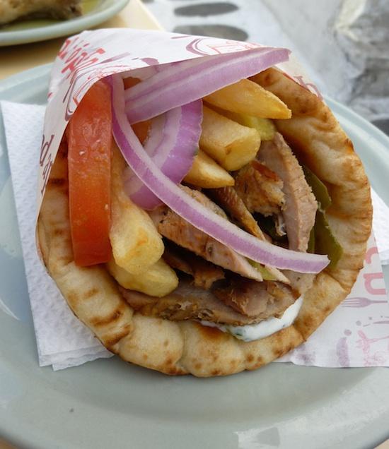 Greek pork gyros
